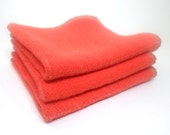 Washcloth set of 3 - made with Hemp and Organic Cotton French Terry by Aquarian Bath