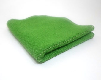 Green Washcloth 10 x 10 inches made with Hemp and Organic Cotton French Terry -  Aquarian Bath - Go green - ecofriendly