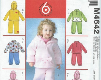 McCall's M4642 Toddlers' Top and Pants - Size 1-2-3-4 - Uncut Pattern