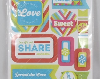 Creative Memories Candy Shop Layered Stickers #SC028