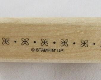 Stampin Up! - Flower Border Rubber Stamp #RS114