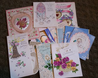 Lot of 15 1940s Greeting Cards