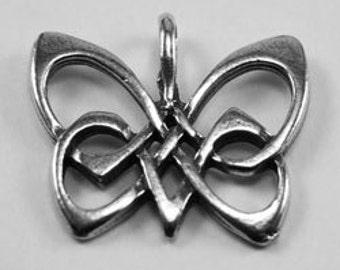 Butterfly pendant in celtic design Australian Pewter AF276