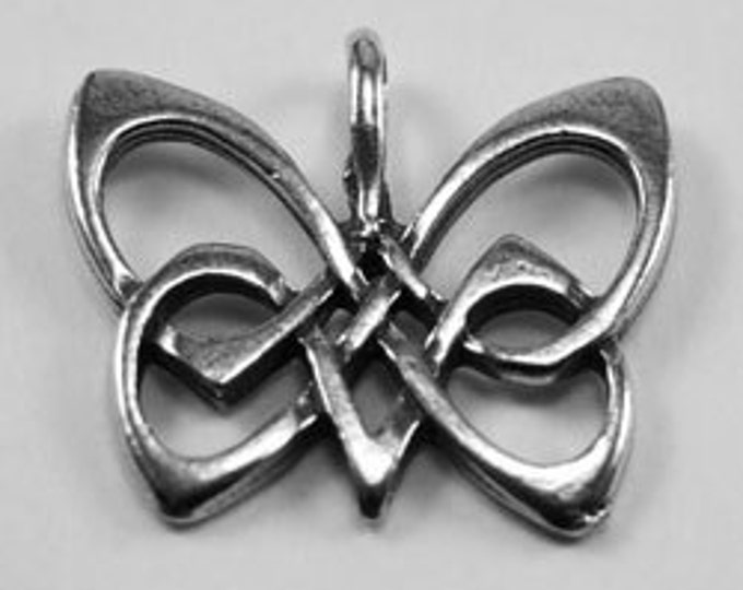 Butterfly pendant in celtic design Australian Pewter AF276