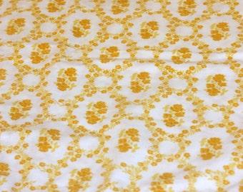 Vintage Pillowcase, Gold Pillowcase, Retro Pillowcase, Standard Pillowcase, Shabby Pillowcase, Floral Pillowcase, Single Pillowcase