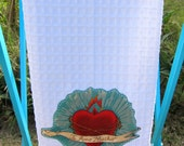 Bleeding HEART Ruffled Mexican Kitchen TOWEL CUSTOM