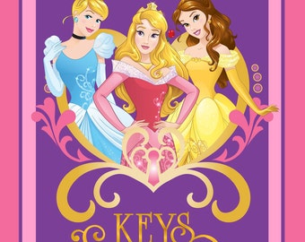 Princess Keys To The Kingdom Disney PANEL sewing quilting cotton woven