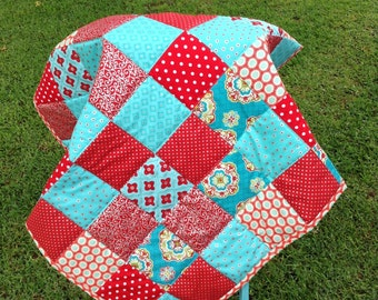 Sale Ready To Ship Handmade  Baby or toddler Quilt