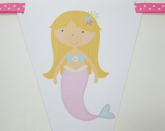 Mermaid 'Happy Birthday' Banner