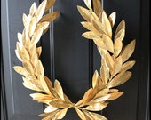 Year-round Everyday Decor Gold Laurel Bay Leaf Crest Wreath  Peace Victory  Wedding Olympic Holiday Faux Artificial