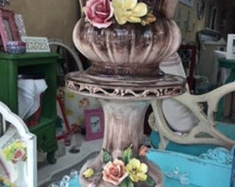 Vintage Capodimonte... 2 Pieces.. Planter and Plant Stand