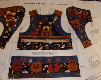 """V.I.P. Cranston """"Which Witch & The Who"""" Halloween Vest Fabric Panel"""