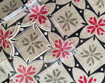Wild Flowers - Fabric Stamp Set - Textile Stamp - Clear Stamp Set of Six