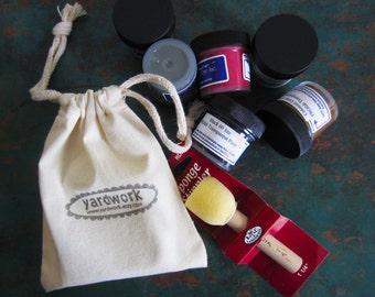 Fabric Printing Set, DIY Craft Kit, Starter Kit for Textile Arts, Gift Set