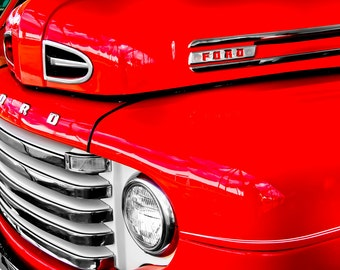 1948 Ford F-1 Pickup Truck Car Photography, Automotive, Auto Dealer, Muscle, Sports Car, Mechanic, Boys Room, Garage, Dealership Art