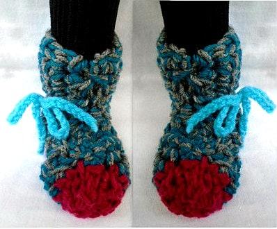 Beginner Crochet Patterns Slippers : Unisex Slipper CROCHET PATTERN Easy Beginner 2 yrs by ...