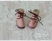 Pink -Real Leather boots/shoes for Blythe dolls and 1/6 BJD dolls