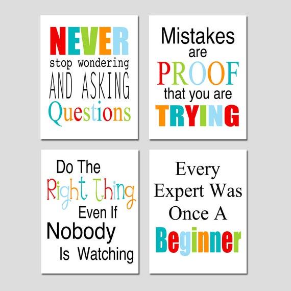 Classroom Decor Inspiration : Classroom decor inspirational quotes art playroom