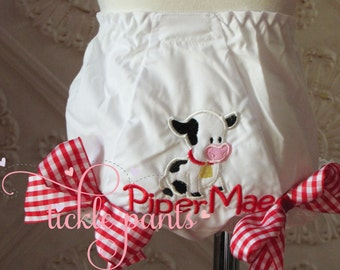 Cow farm diaper cover bloomer- Other animals available- Pig, horse diaper cover- Petting zoo, Barnyard