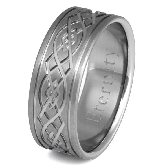 Titanium Irish Celtic Wedding Band - Celtic Infinity Knot - ck52