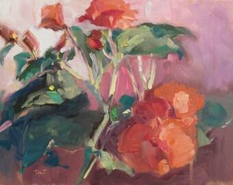 Begonia....floral..impressionistic..impressionism..WET...pre-order