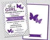 Butterfly Baby Shower Invitation | Butterfly Shower Invitation | printable | digital | Baby25