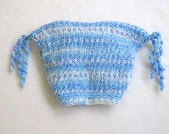 Knitted Hat with Twizzles  6 Months