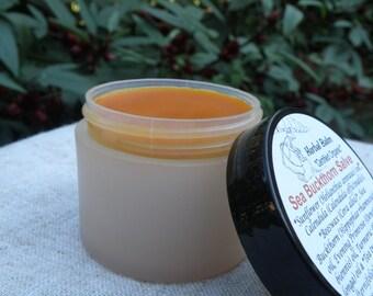 Sea Buckthorn Salve with Calendula Infused Organic Sunflower - Herbal Balm - Sea Buckthorn Balm - Organic Ingredients - 2 Oz