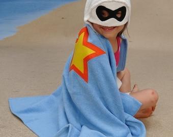 Personalized Ally Bug Superhero hooded towel
