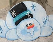 Cookie Jar Lid,Kitchen Decor,Kitchen Snowman,Handmade Gifts,Wood Snowman,Cookie Lids,Painted Snowman,Winter Gifts,Winter Snowman,Gifts
