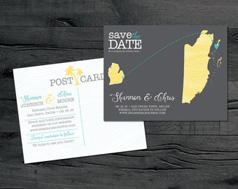 Belize – Wedding Save the Dates - Destination Wedding - Save the Date