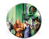 "SALE - Pocket Mirror, Magnet or Pinback Button - Wedding Favors, Party themes - 2.25""- Wizard of Oz Emerald City MR414"