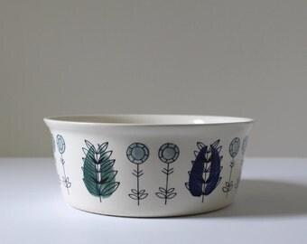 Egersund Norway Bowl, Egersund Casserole Dish, Scandinavian Modern, Mid-Century Floral, Scandi Pottery,  Nordic Design