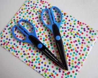 2 Decorative Scalloped Edge Scissors Scrapbooking Craft Supply