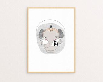 Circus Ellie A4 Print