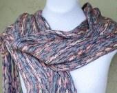 Handwoven Silk Wool Scarf, Ikat Scarf, Light Wrap