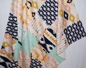 patchwork minky baby blanket - arizona baby blanket- arrow baby blanket- girl baby blanket- mint baby blanket-triangle baby blanket