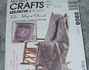 McCall's--Pattern 5908--The Magic Quilt--Quick & Easy Crafts--UNCUT--Sewing Pattern