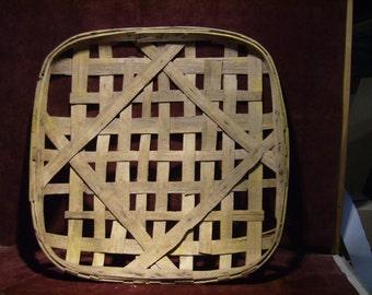 Large Tobacco Basket Vintage 1950's FREE SHIPPING