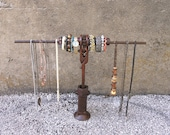 Jewelry Stand, Extendable Length Watch Bracelet Holder, Girlfriend Boyfriend Gift, Jewelry Store Display, Industrial Style, Valentine gift
