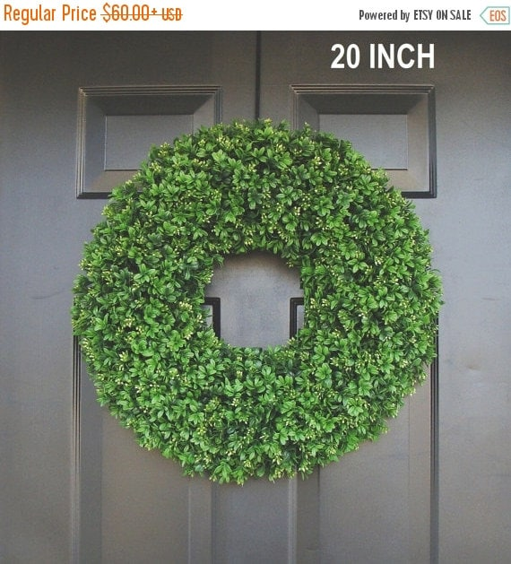 Spring wreath sale realistic artificial boxwood wreath 14 to 30 inch