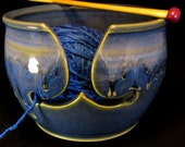Yarn Bowl - Knitting Bowl - Blue Yarn Bowl - Gift for Knitter - Knitting Storage - Knitting Yarn Bowl - Yarn Organizer - Bowl Yarn - InStock