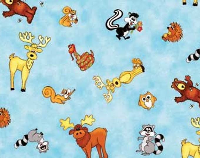 Forest Friends cotton fabric by Kathy Brown for Red Rooster Fabrics .