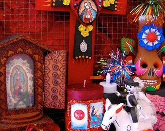 Sale- Day of the Dead SANTA MUERTE Original Photo-  Perfect picture to add to your shrine
