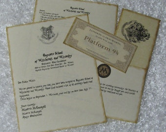 Customized Harry Potter Hogwarts Acceptance Letter