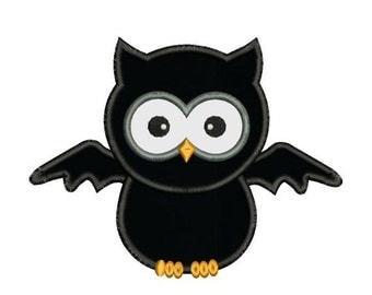 SALE 65% off Applique Halloween Owl Bat Machine Embroidery Designs 4X4 and 5X7 Included - Instant Download Sale