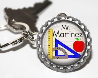 PERSONALIZED Teacher Math Bottlecap Keychain - Teacher Appreciation, Thank You Gift, Back to School, Math Teacher