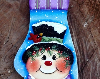 Wooly Winter Snowman Ornament