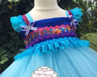 Bubble Guppies Inspired Tutu Dress - Bubble Guppies Inspired Party Dress -Bubble Guppies Inspired Birthday Dress