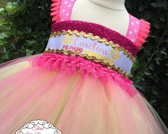 Personalized You are My Sunshine Tutu Dress - You are My Sunshine Party Dress - 1st Birthday Dress